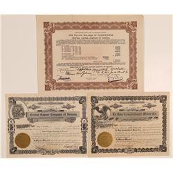 Three Dos Cabezas, Cochise County Mining Stock Certificates  106800