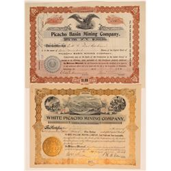 Two Different Picacho, AZ Mining Stock Certificates  106926
