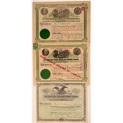 Three Different Santa Rita Mining Stock Certificates  106924