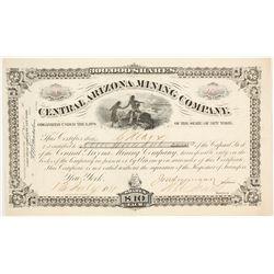 Central Arizona Mining Company Stock Certificate  89371