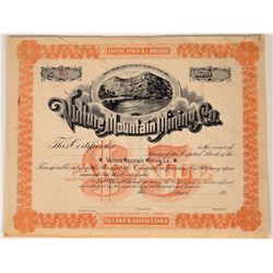 Vulture Mountain Mining Co. Stock Certificate  107560