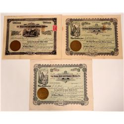 Helga Gold & Copper Mining Co. Stock Certificate Trio  107568