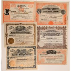 Amador County Mining Stock Certificates (6)  105808