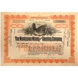 Montezuma Mining and Smelting Company Stock - Near the Owens River Valley  105809