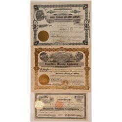 Madera and Fresno County Mining Stock Certificates (3)  105895