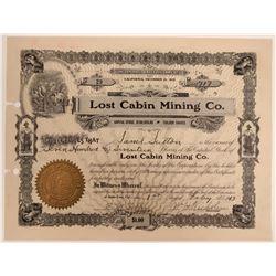 Lost Cabin Mining Company Stock  105806