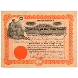 Pioneer Copper & Silver Mining Co. Stock Certificate  106701