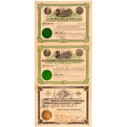 California Motherlode Mining Stock Certificates (3)  106676