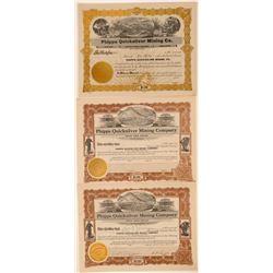 Phipps Quicksilver Mining Company Stock Certificates (3)  106805