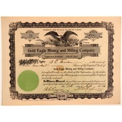 Gold Eagle Mining & Milling Company Stock Certificate  106711