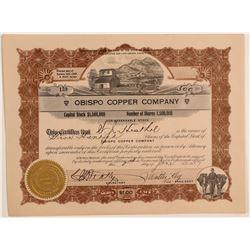 Obispo Copper Company Stock Certificate  106783