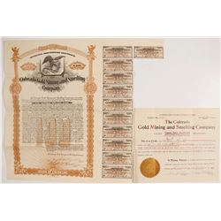 Colorado Gold Mining & Smelting Co. Stock and Bond  62757