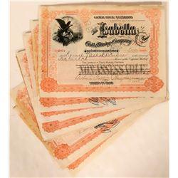 Twenty-one Hagerman Signed Isabella Gold Mining Company Stocks (Number 1)  105855