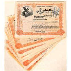 Twenty-one Hagerman Signed Isabella Gold Mining Company Stocks (Number 2)  105856