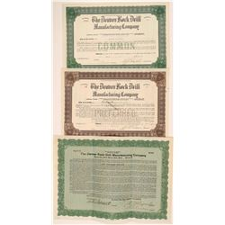 Denver Rock Drill Manufacturing Company Stocks and Bonds  105875