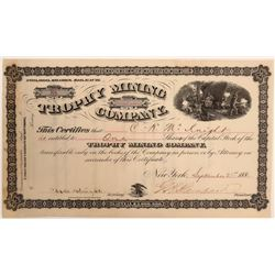 Trophy Mining Company Stock Certificate  105908