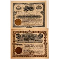 Two Different Blaine County, Idaho Mining Stock Certificates  107525