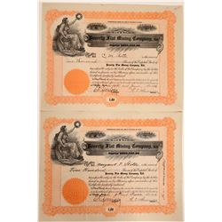 Poverty Flat Mining Company, Ltd. Stock Certificates--Number 1 and 2  107510