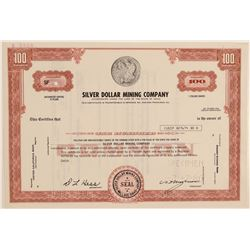 Silver Dollar Mining Co. Specimen Stock w/ Morgan Dollar Vignette  106828