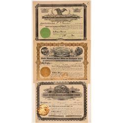Thunder Mountain, Idaho Mining Stock Certificates (3)  106681