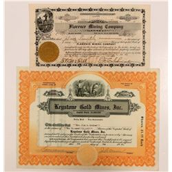 Florence MC and Keystone Gold Mines Stock  108202