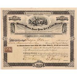 Milwaukee-Montana Natural Bridge Gold & Copper MC Stock  109528
