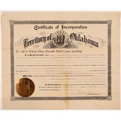 Radersburg, MT Gold Certificate of Incorporation  108174