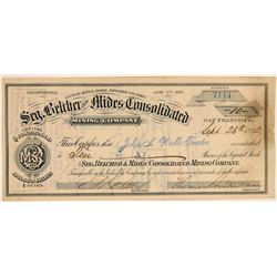 Segregated Belcher & Mides Cons. Mining Co. Stock Certificate  106846