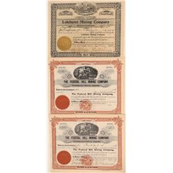 New Jersey Mining Stock Certificate Trio  106769