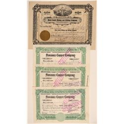 Four Grant County, New Mexico Mining Stock Certificates  106771