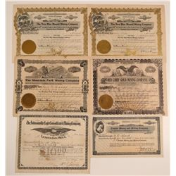 Oklahoma Mining Stock Certificate Group  106914