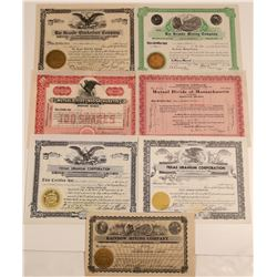 Texas Mining Stock Certificate Group  106912