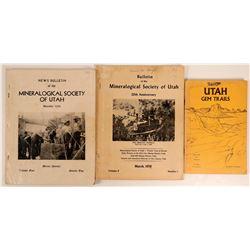 Utah Mineral Publications (3)  108208