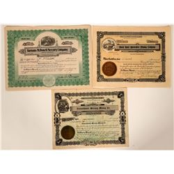Three Different Washington Mercury/Quicksilver Mining Stocks  107573