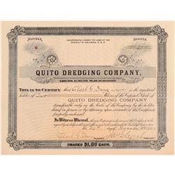 Quito Dredging Company Stock Certificate  106811