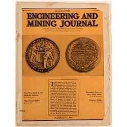 Engineering and Mining Journal with Medal Cover  108207