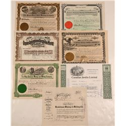 Six Nice Western Mining Stock Certificates  105776