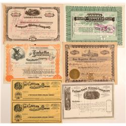 Western States Stock Certificates (8)  104531