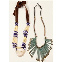 Native American Necklaces / 2 Items.  100717