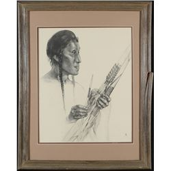 Framed Native American Print by Caples  87619