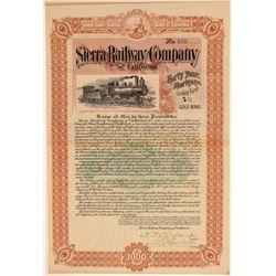 Sierra Railway Company of California Bond  106859