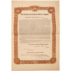 Colorado & Southern Railway Co. Bond  106883