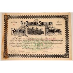 Columbus Southern Railway Company Stock Certificate  107446