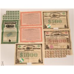 Six Chicago & Alton Railroad Bonds  107605