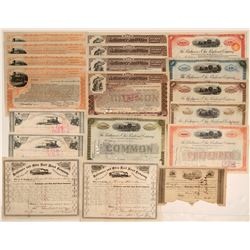 Baltimore & Ohio Railroad Company Stock Certificate Collection (20)  106694