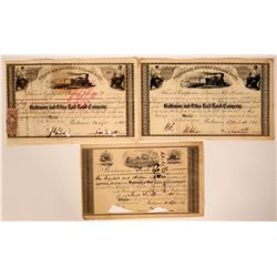 Three Early Baltimore & Ohio Rail Road Co. Stock Certificates  107492