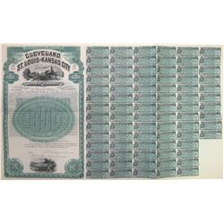 Cleveland, St. Louis & Kansas City Railway Co. Bond  60499