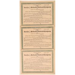 Eureka & Palisade Railroad Co. Unissued Bonds  106781