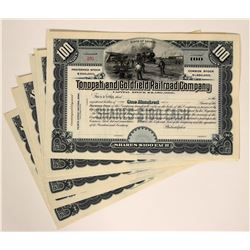 Tonopah & Goldfield Railroad Stock Certificates  107457