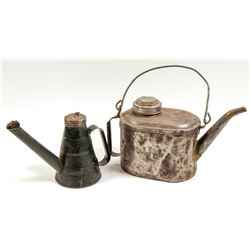 Oil Can & Dispenser / 2 Items.  109572